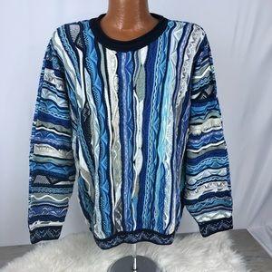 Coogi Australia Authentic Sweater Cosby Vtg 90s L
